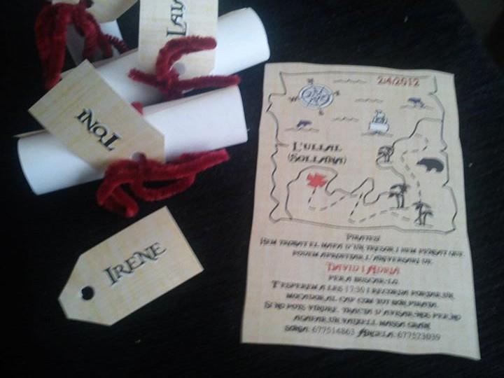 invitación original de cumpleaños a modo de mapa del tesoro