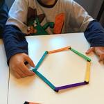 Polígonos regulares con palos de polo