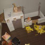 Belén de Papercraft: Pueblo, personas y decoración.