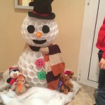Día 18: muñeco de nieve de vasos