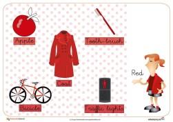 colores, rojo, recursos educativos, recursos para el aula, fichas para imprimir, fichas educativas gratis