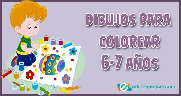 6-7 años, dibujos 6-7 años, colorear 6-7 años, dibujos para colorear, dibujos para pintar y colorear