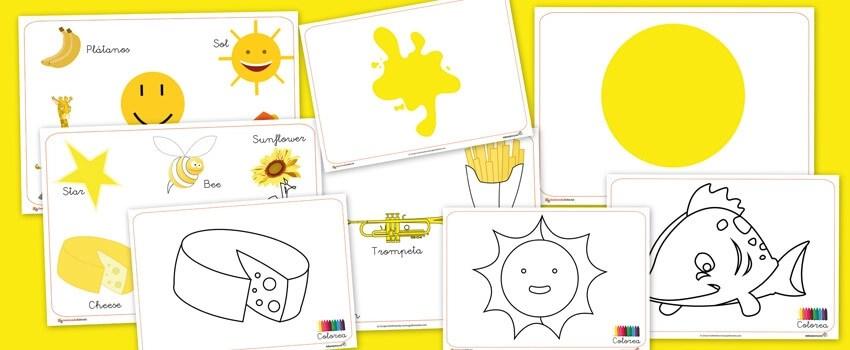 recursos para el aula, recursos didacticos, colores, amarillo
