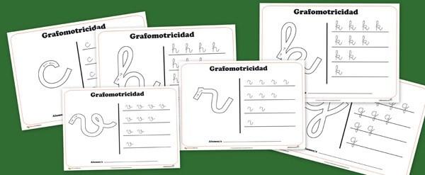 Las 22 fichas de grafomotricidad de todas las consonantes del abecedario. Grafomotricidad y recursos para clase de educapeques.