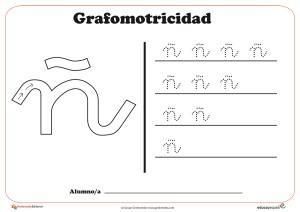 """Ficha de grafomotricidad con la letra """"Ñ"""""""