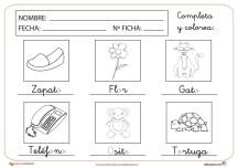 Fichas de letras para grafomotricidad y lectoescritura