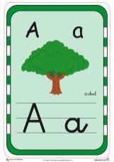 abecedario en color l