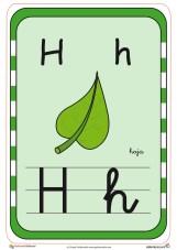 abecedario en color h