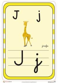 abecedario en color j