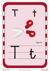 abecedario en color t