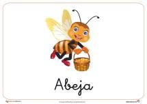 Fichas de animales e insectos: Abeja