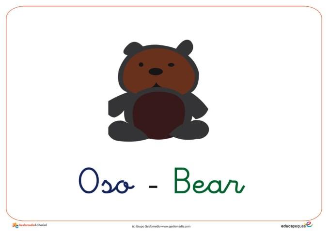 Fichas de vocabulario letra O