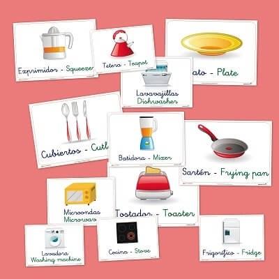 Fichas De Vocabulario Basico La Cocina