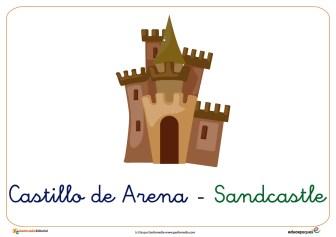 castillo de arena ficha verano
