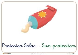 protector solar ficha verano