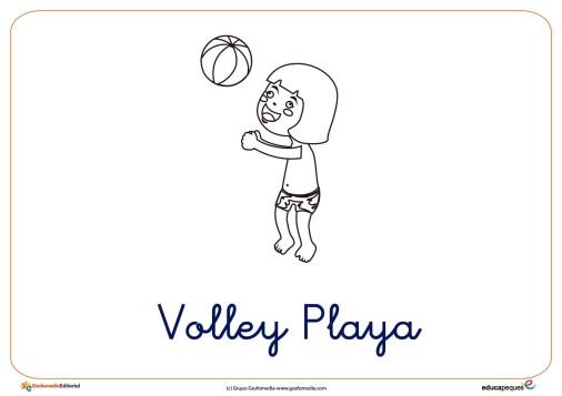 volley ficha verano colorear