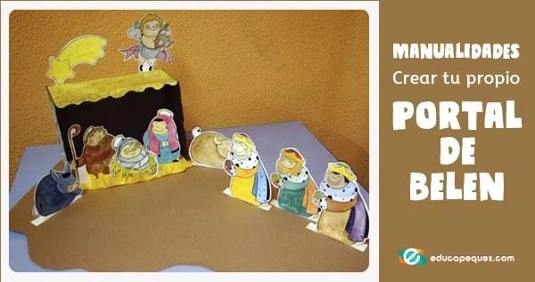 Portal de belen, manualidades de navidad