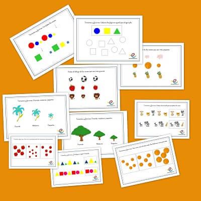 Fichas de matematicas formas y tamaños
