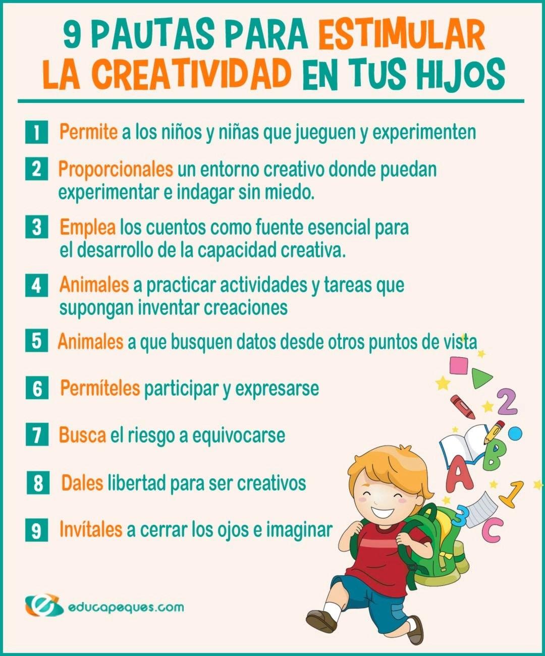 Fichas con ejercicios de creatividad en infantil y primaria