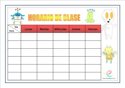 Horarios de clase 01