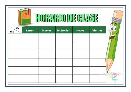Horarios de clase 06