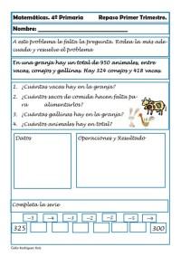 Matemáticas cuarto de primaria 04