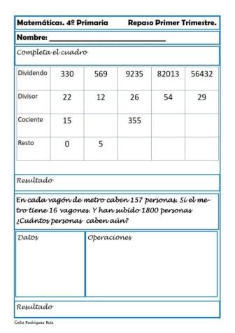 Matemáticas cuarto de primaria 29