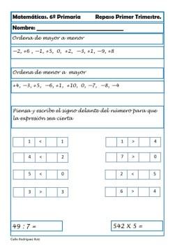 ejercicios matematicas sexto primaria 16