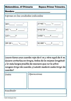 ejercicios matematicas sexto primaria 27