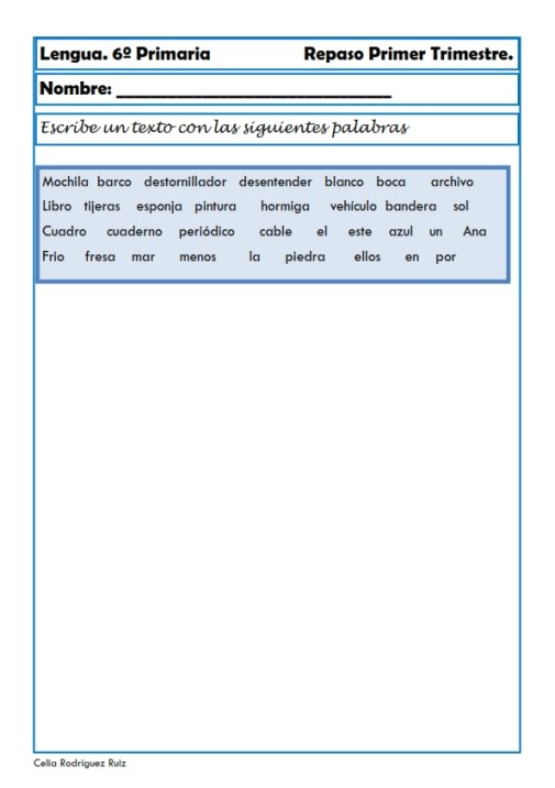 fichas de lengua sexto primaria 24