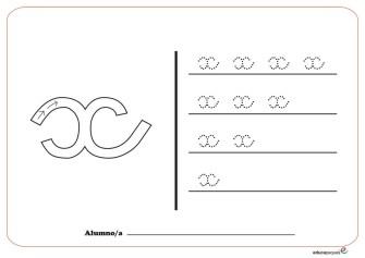 grafo consonantes x