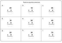 fichas de multiplicación 05