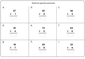 fichas de multiplicación 10