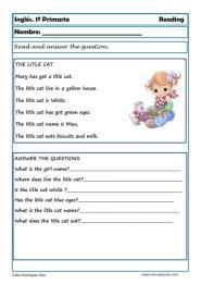 Reading writting ingles primero primaria 03