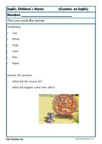 comprensión lectora inlges cuentos 02