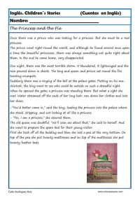 comprensión lectora inlges cuentos 05