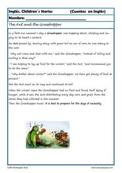 comprensión lectora inlges cuentos 07
