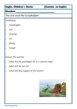 comprensión lectora inlges cuentos 08