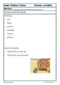 comprensión lectora inlges cuentos 14