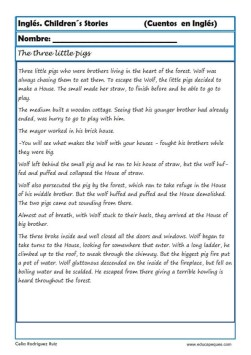 comprensión lectora inlges cuentos 15