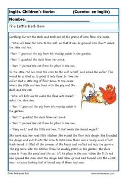 comprensión lectora inlges cuentos 18