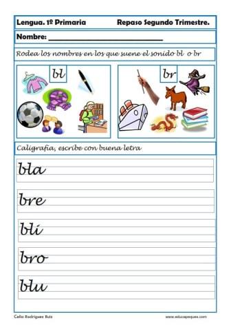 ejercicios lengua primero primaria 01