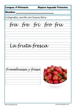 ejercicios lengua primero primaria 08
