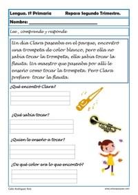 ejercicios lengua primero primaria 14