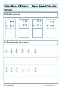 ejercicios matemáticas cuarto primaria 07