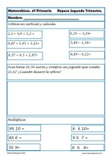 ejercicios matemáticas cuarto primaria 14