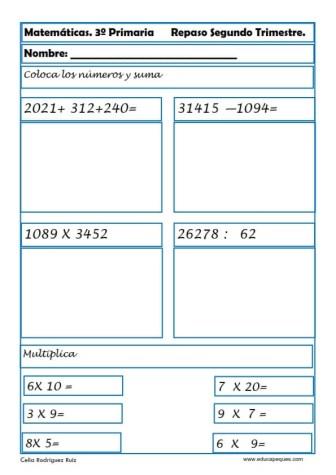 matemáticas tercero primaria 28