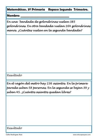matemáticas tercero primaria 29