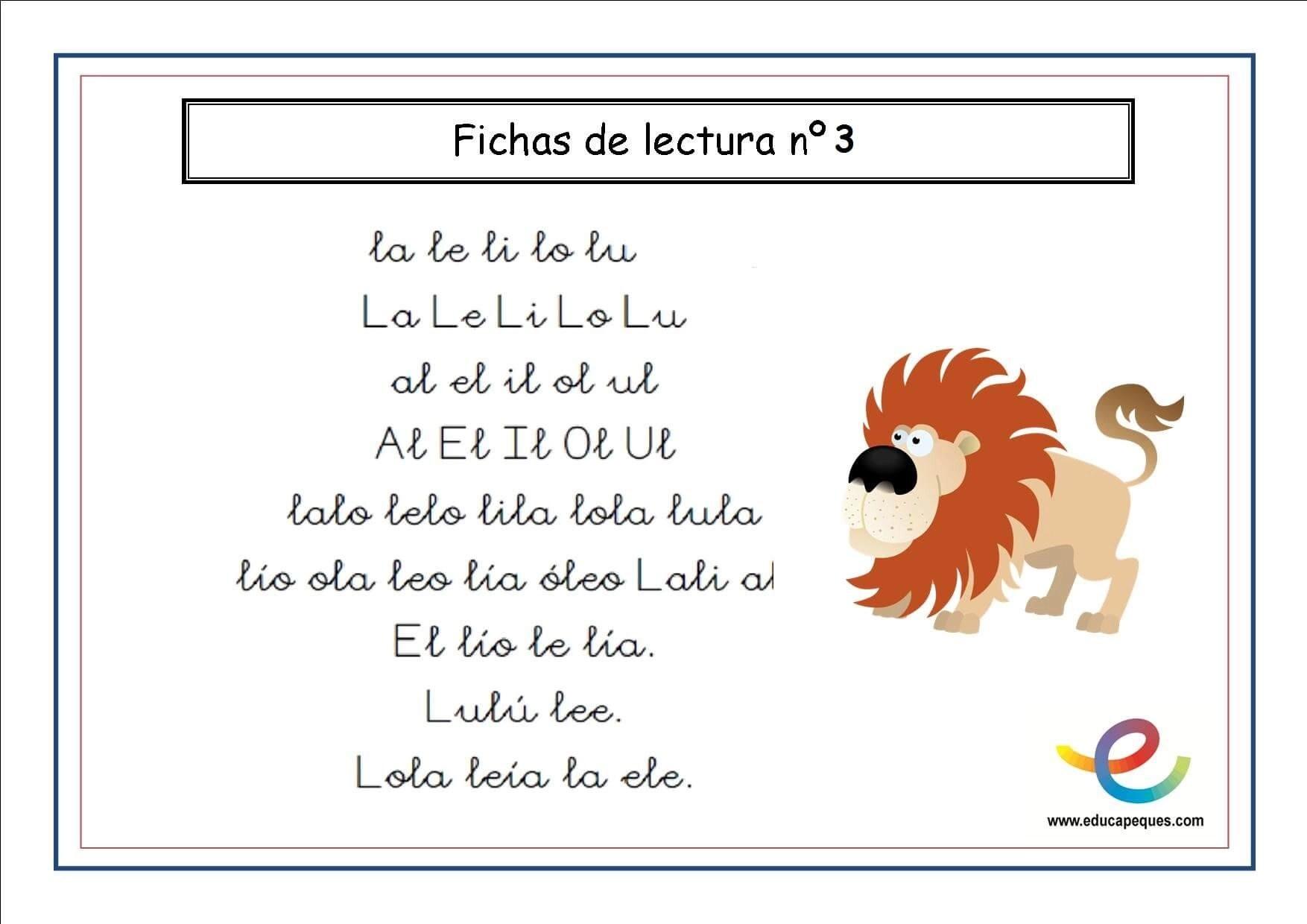 Cartilla De Lectura Infantil: El Portal De Educapeques