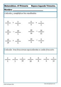 matemáticas sexto primaria 20